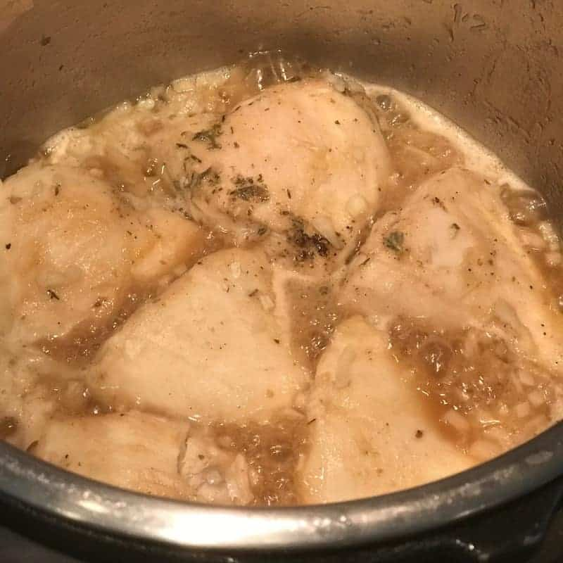 cooked chicken marsala in the Instant Pot