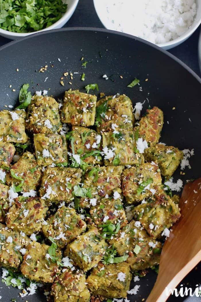 Dudhi Muthia {vegan steamed dumplings } – Instant Pot