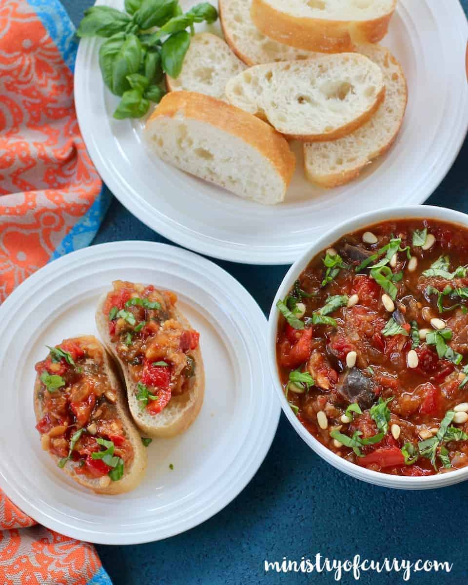 Eggplant and red pepper Spread