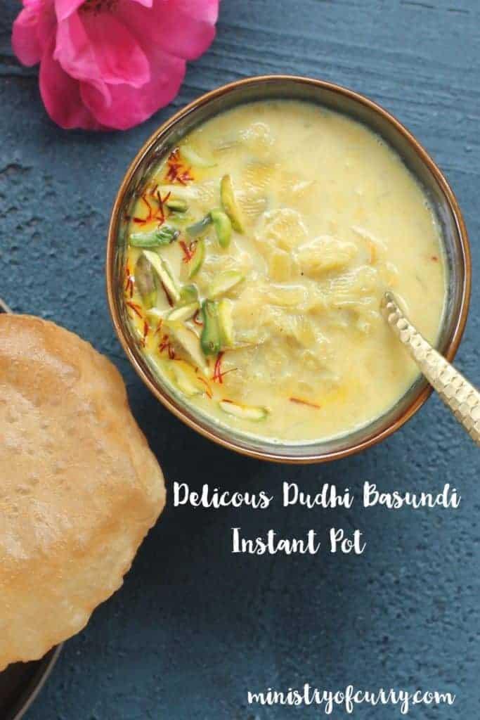 Dudhi Basundi with Puri