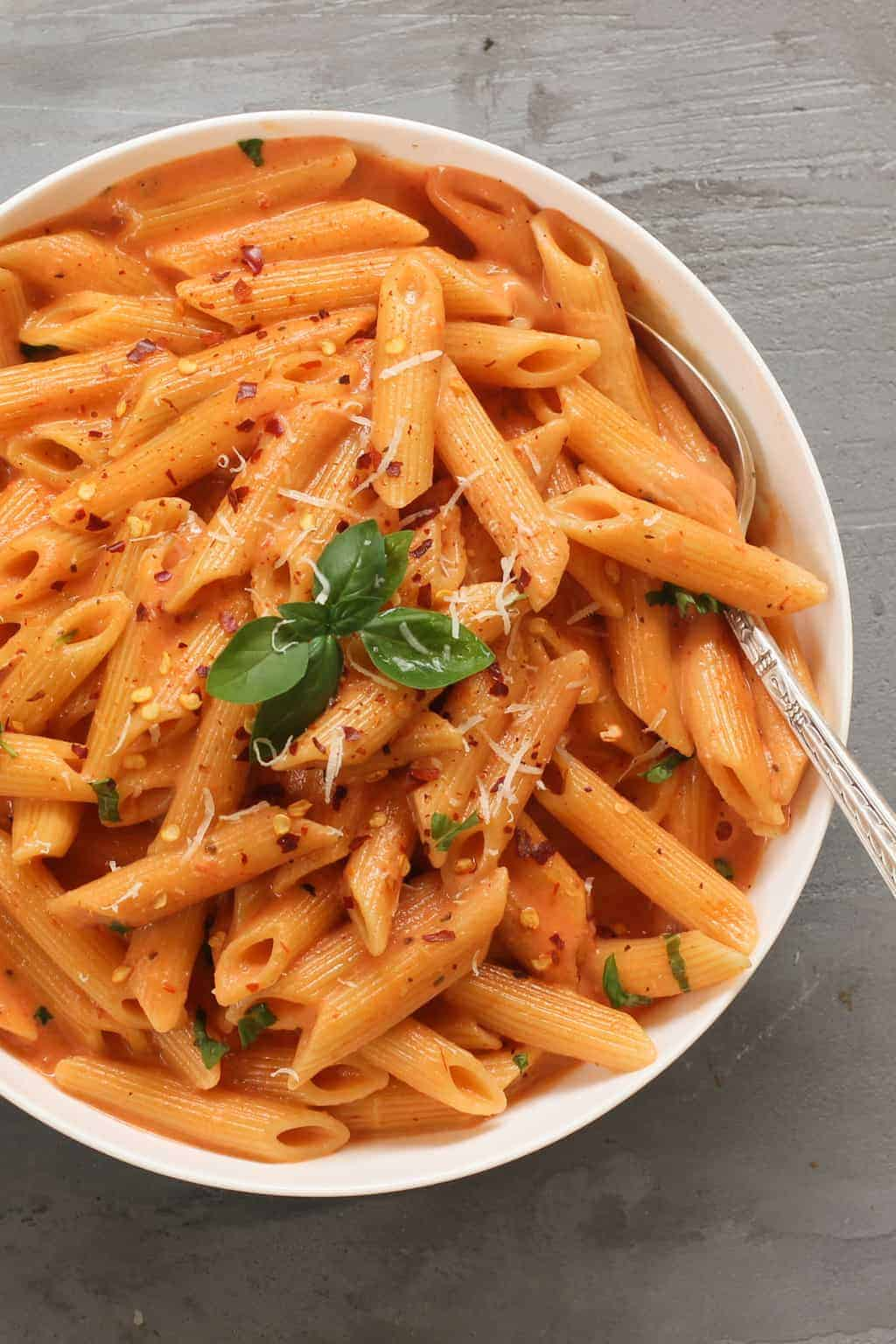 Pasta With Tomato Cream Sauce Using Instapot Ministry Of Curry