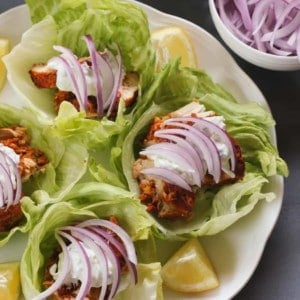 Tandoori Chicken Lettuce Wrap