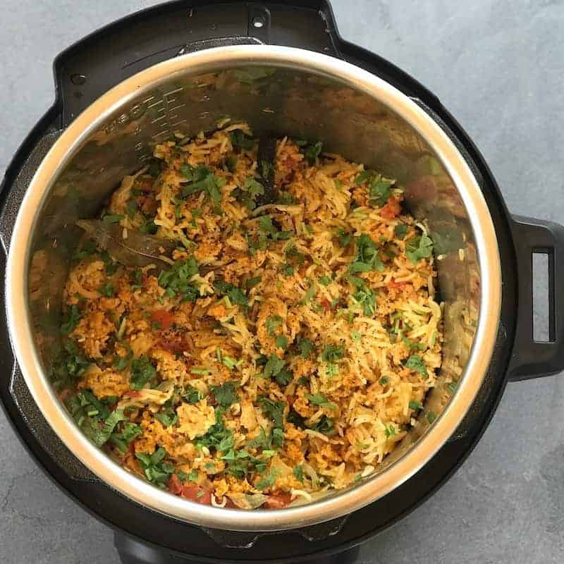 Kheema Pulao in Instant Pot