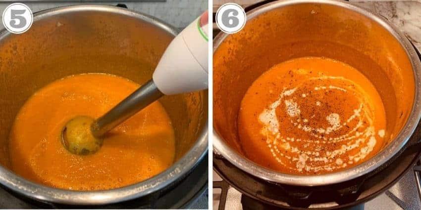 pureed creamy tomato bisque