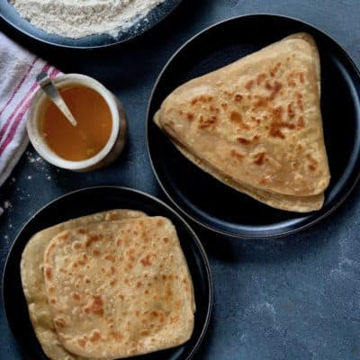 Plain Parathas {Indian flatbreads}