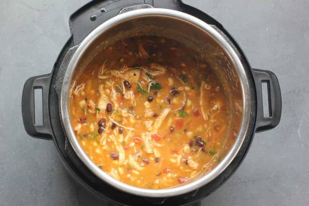 Chicken Tortilla soup in the Instant Pot