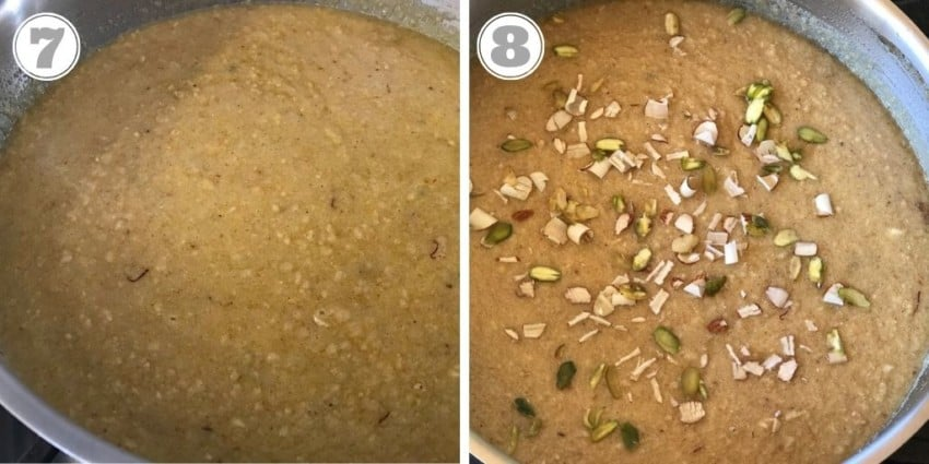 steps seven and eight of making laddo