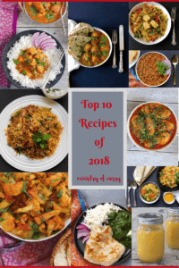 Collage with photos of the 10 recipes from 2018