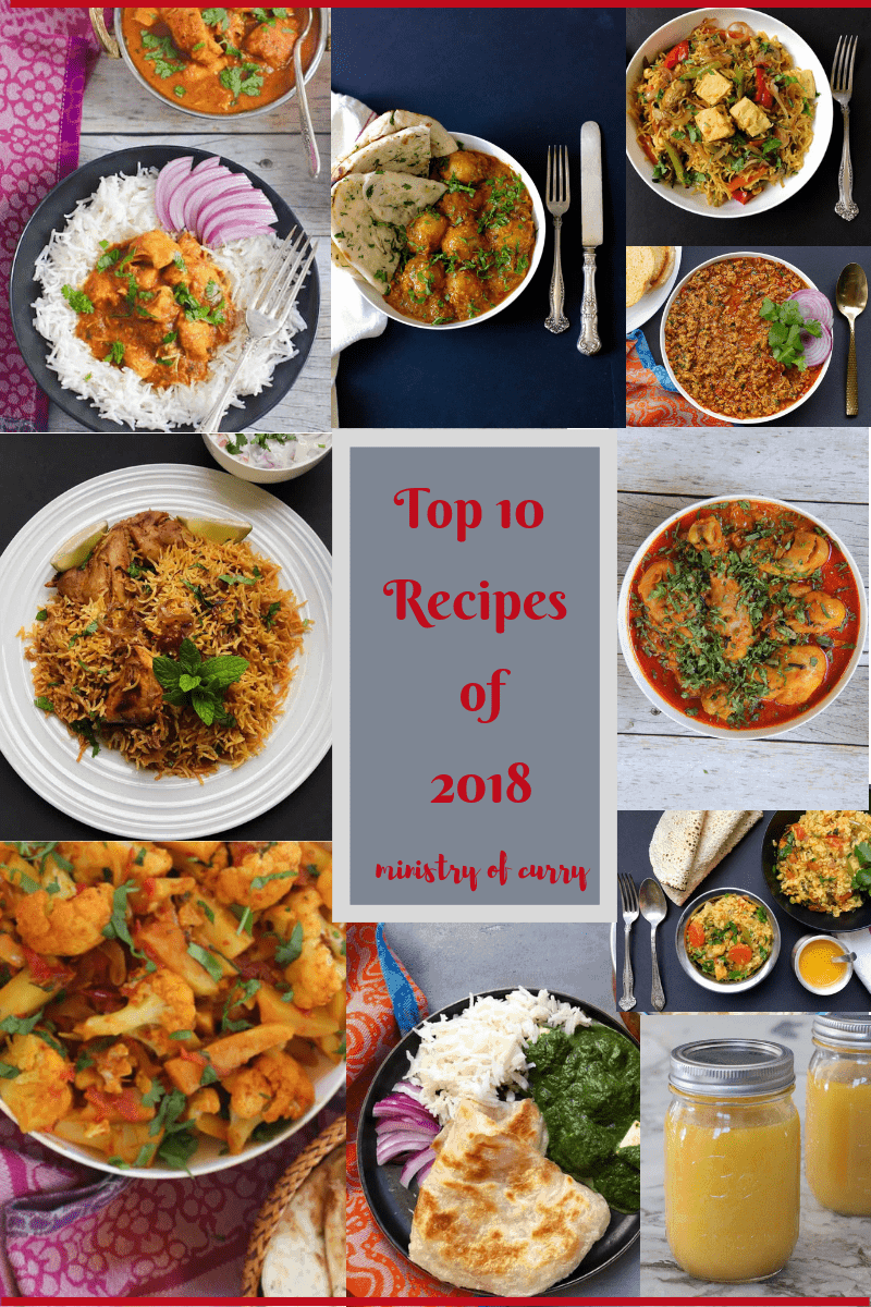 Top 10 Instant Pot Recipes of 2018 #minsitryofcurry #instantpot