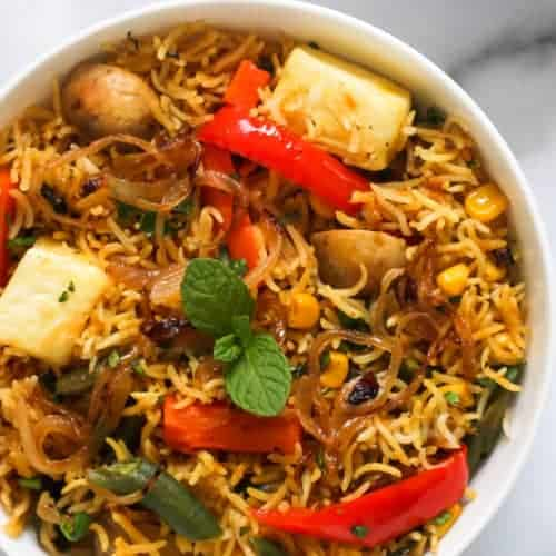 Instant Pot Vegetable Paneer Biryani Ministry Of Curry