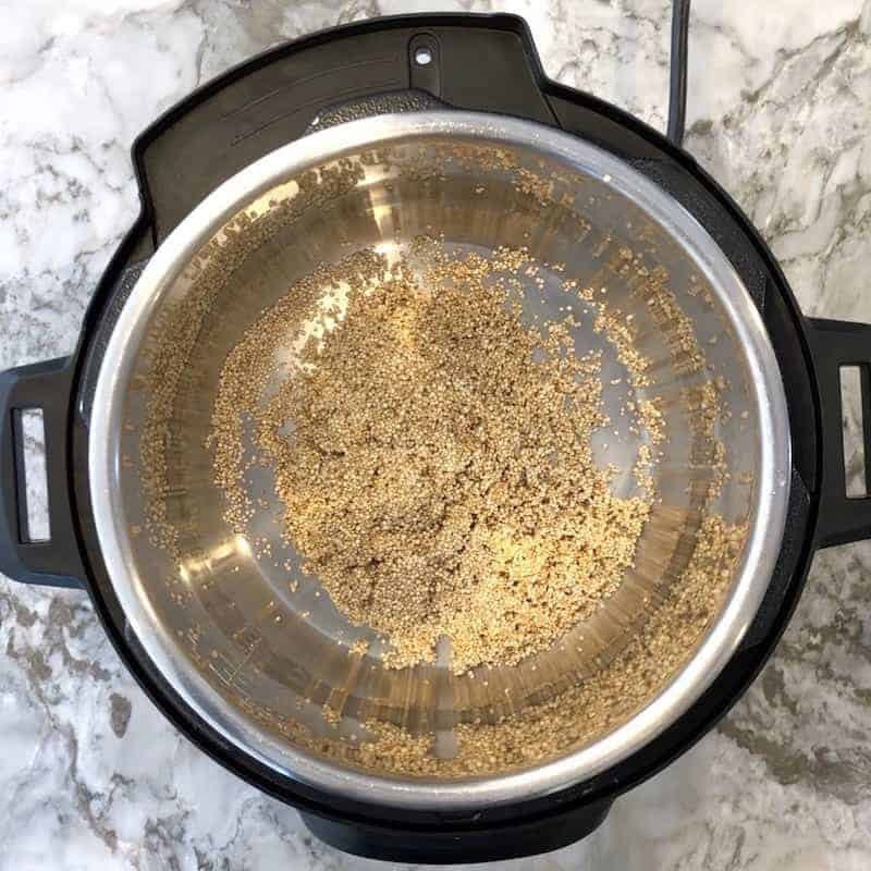 quinoa added to Instant Pot
