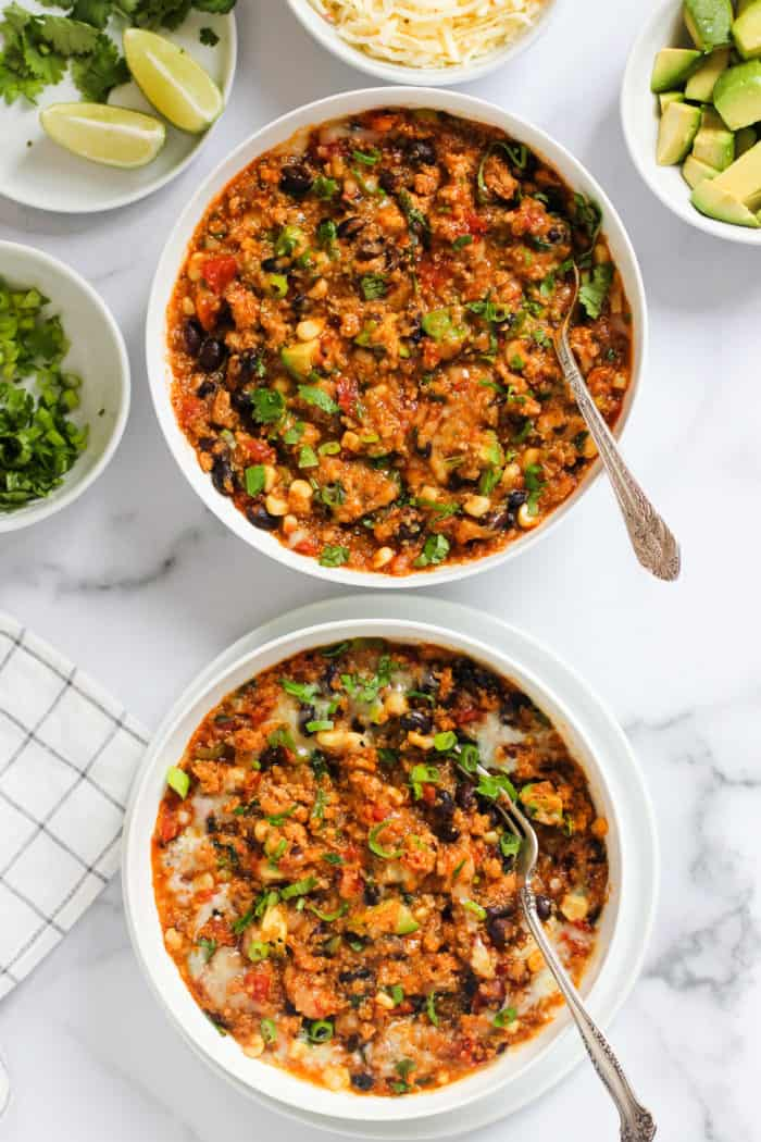 Instant Pot Chicken Enchilada Quinoa