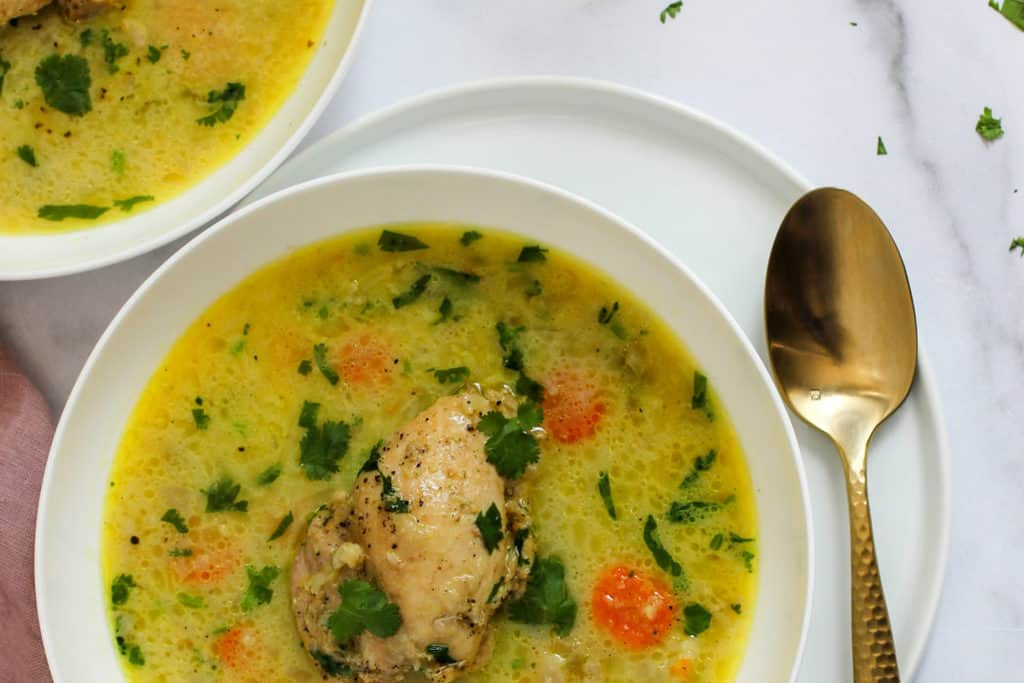 Instant Pot Chicken Mulligatawny Soup