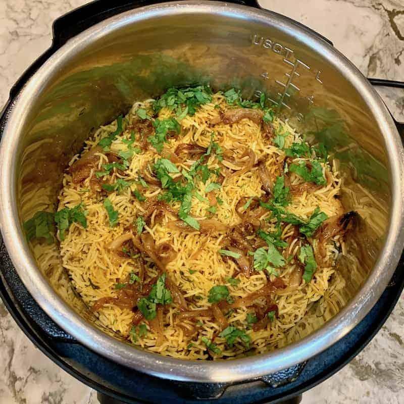 fish biryani in the Instant Pot