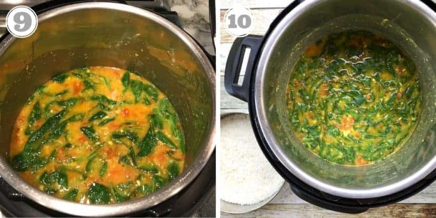 photos of Spinach Dal in Instant Pot