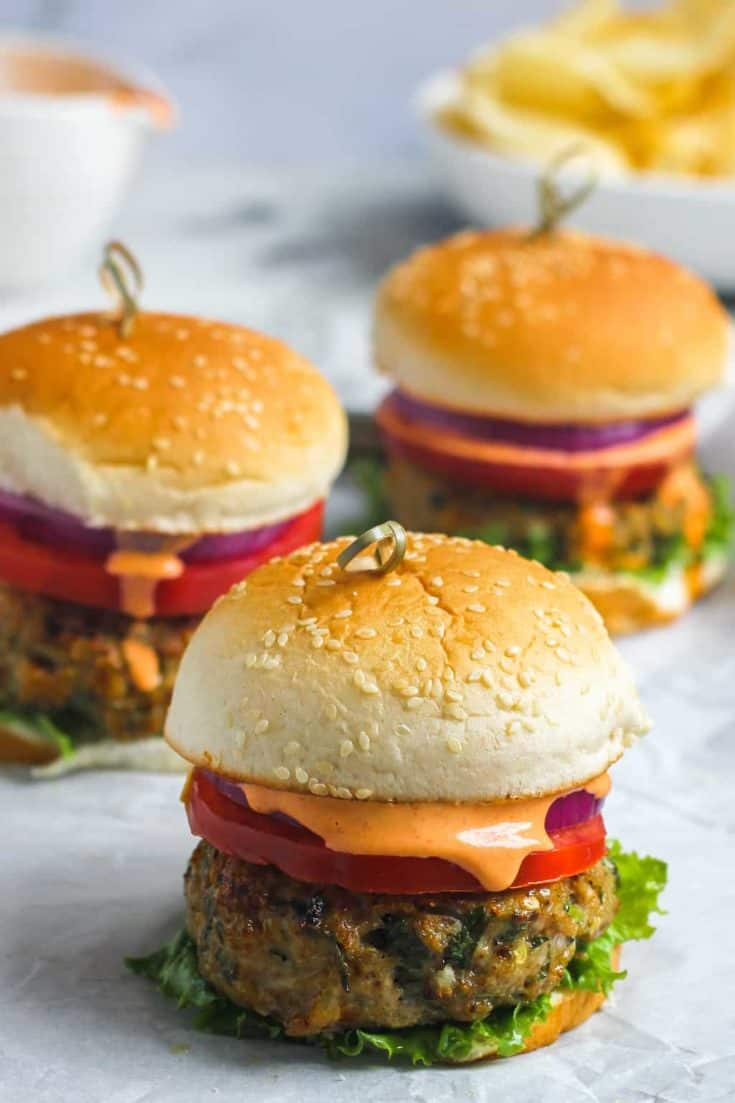 Spicy Masala Chicken Burgers