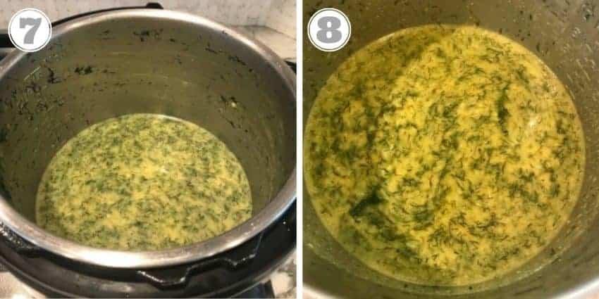 cooked lentils in Instant Pot