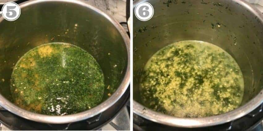 added dill and lentils to Instant Pot