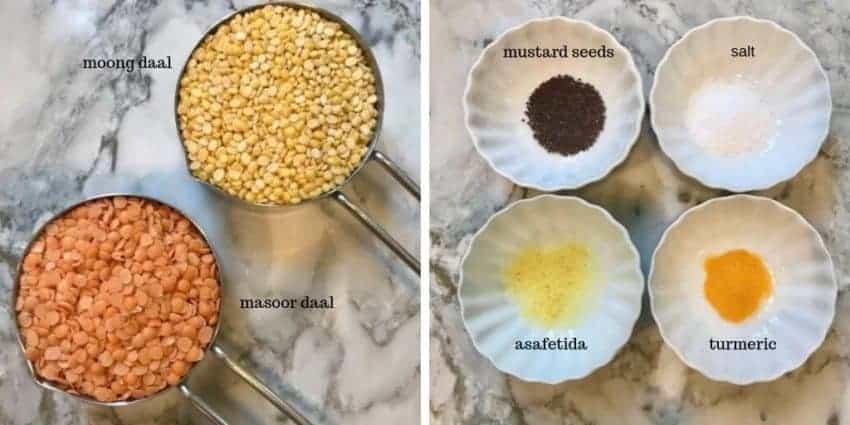 ingredients to make dal