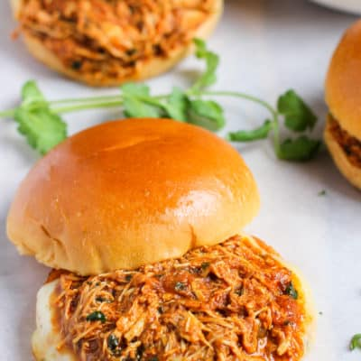 Pulled Butter Chicken Sandwiches