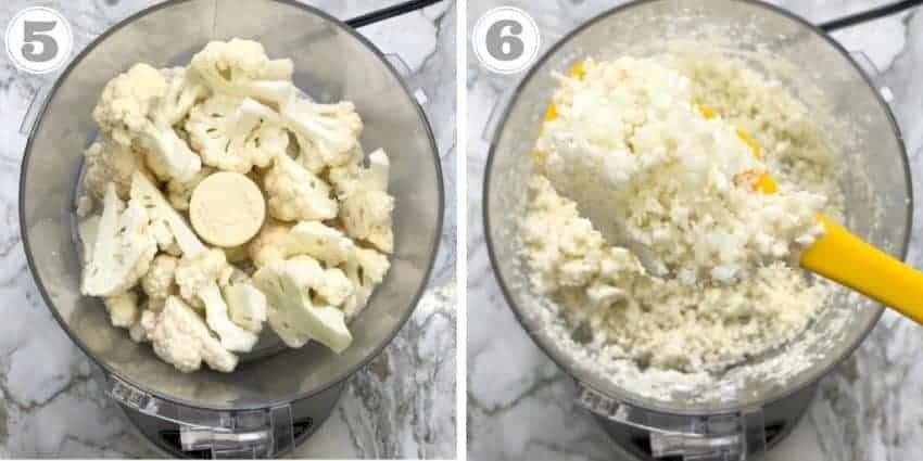 cauliflower rice in food processor
