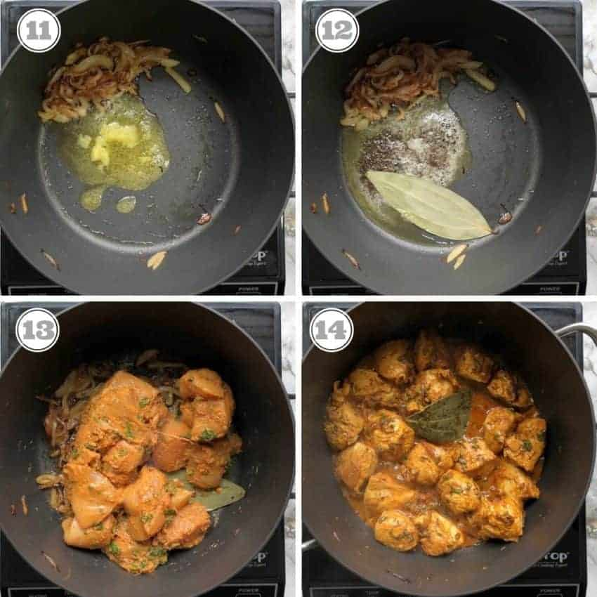 cooking marinated chicken in a non stick pot