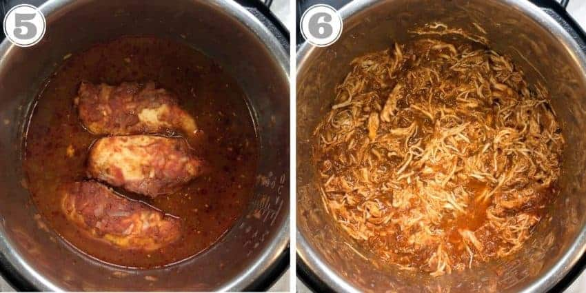cooked chicken in Instant Pot