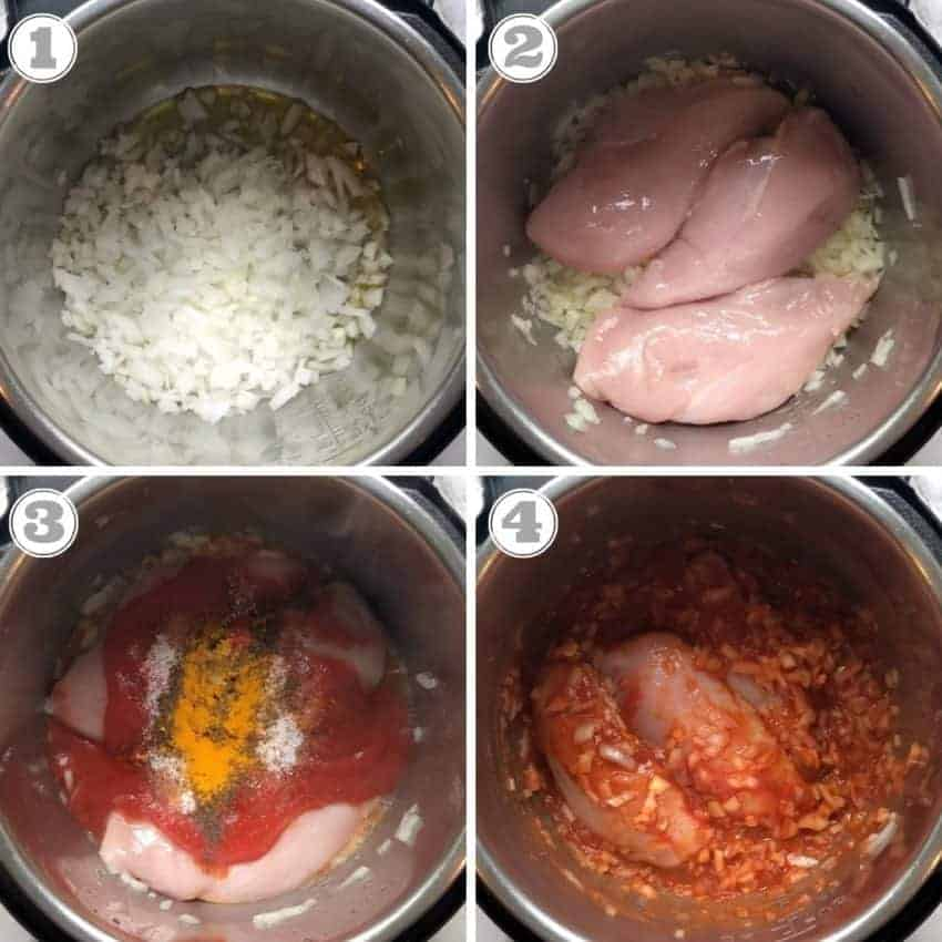 steps to show how to make pulled chicken sandwiches