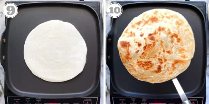 cooking kawan parathas