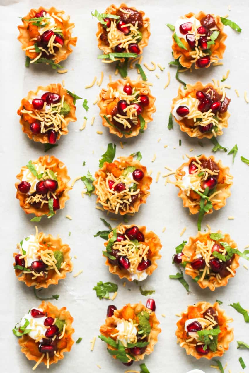 Easy Aloo Chaat Recipe Using Phyllo Cups Ministry Of Curry