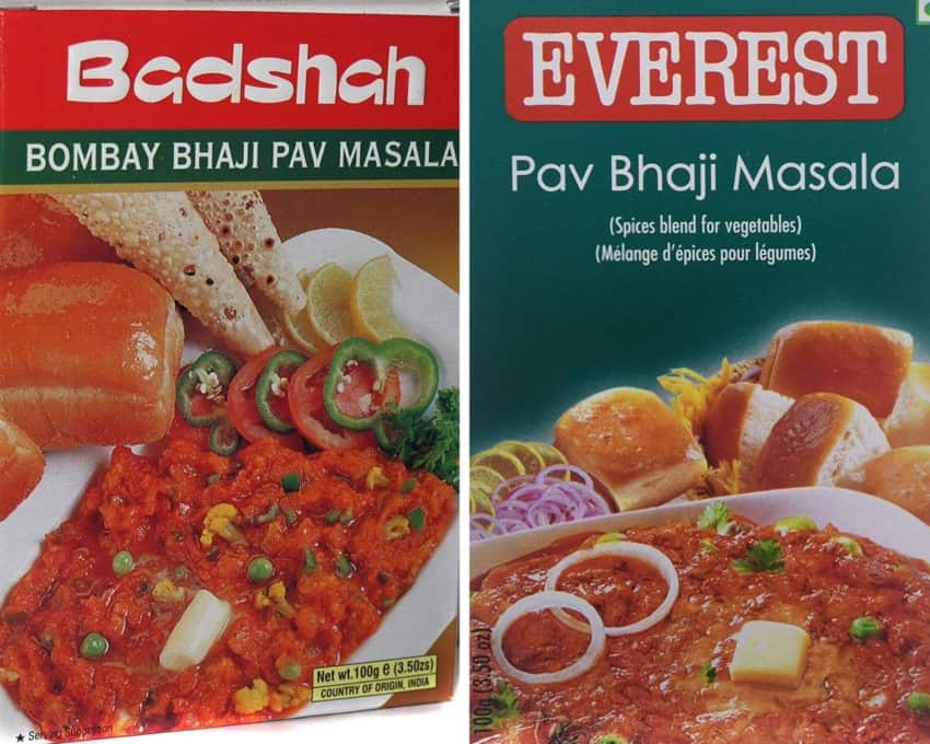 Ready made pav bhaji masala packs