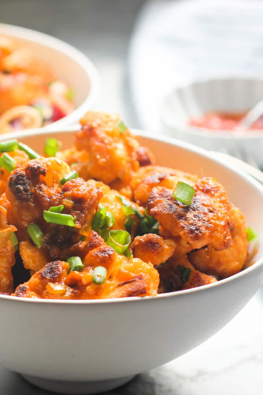 Gobi Manchurian in a white bowl