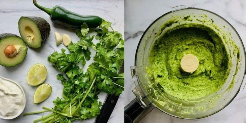 cilantro avocado sauce