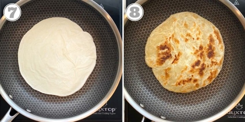 photos showing how to cook frozen paratha