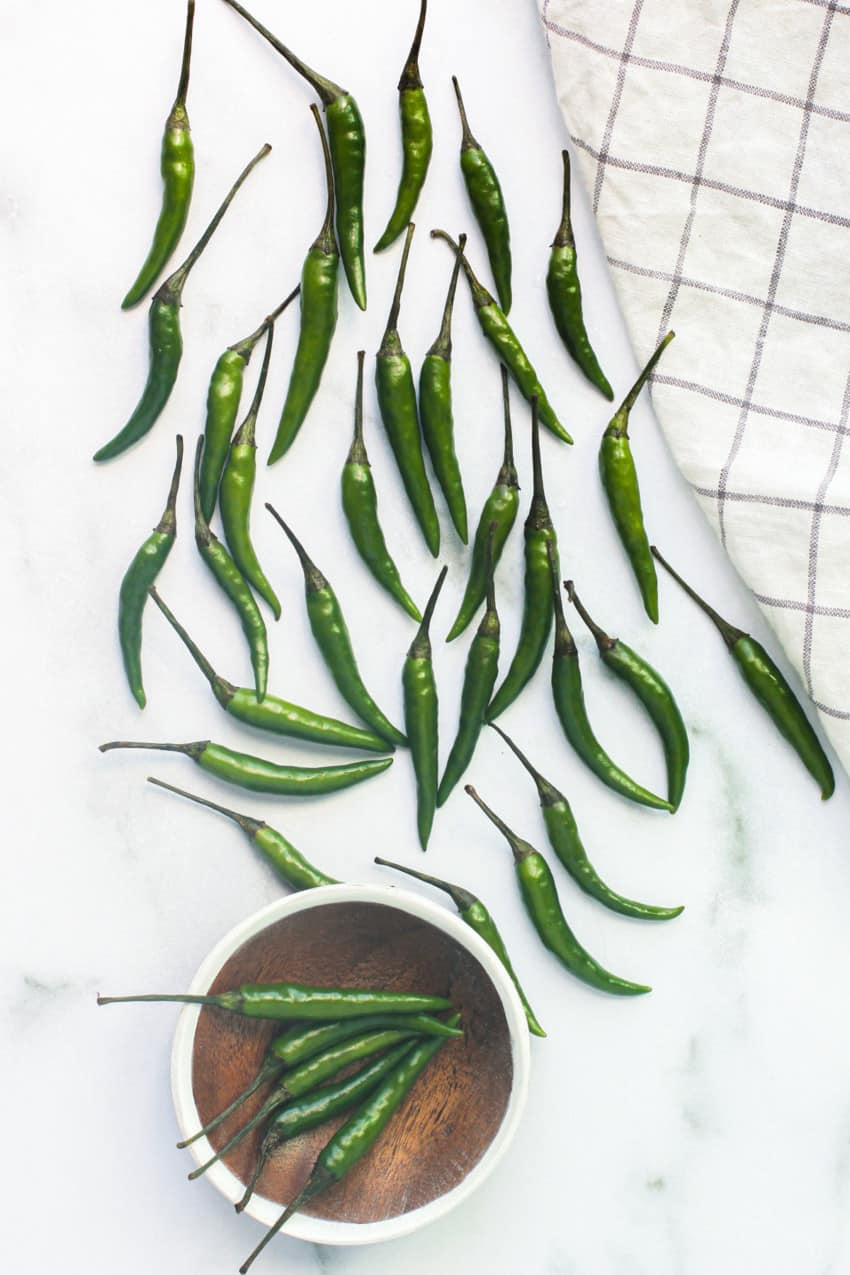 Indian Green Chiles