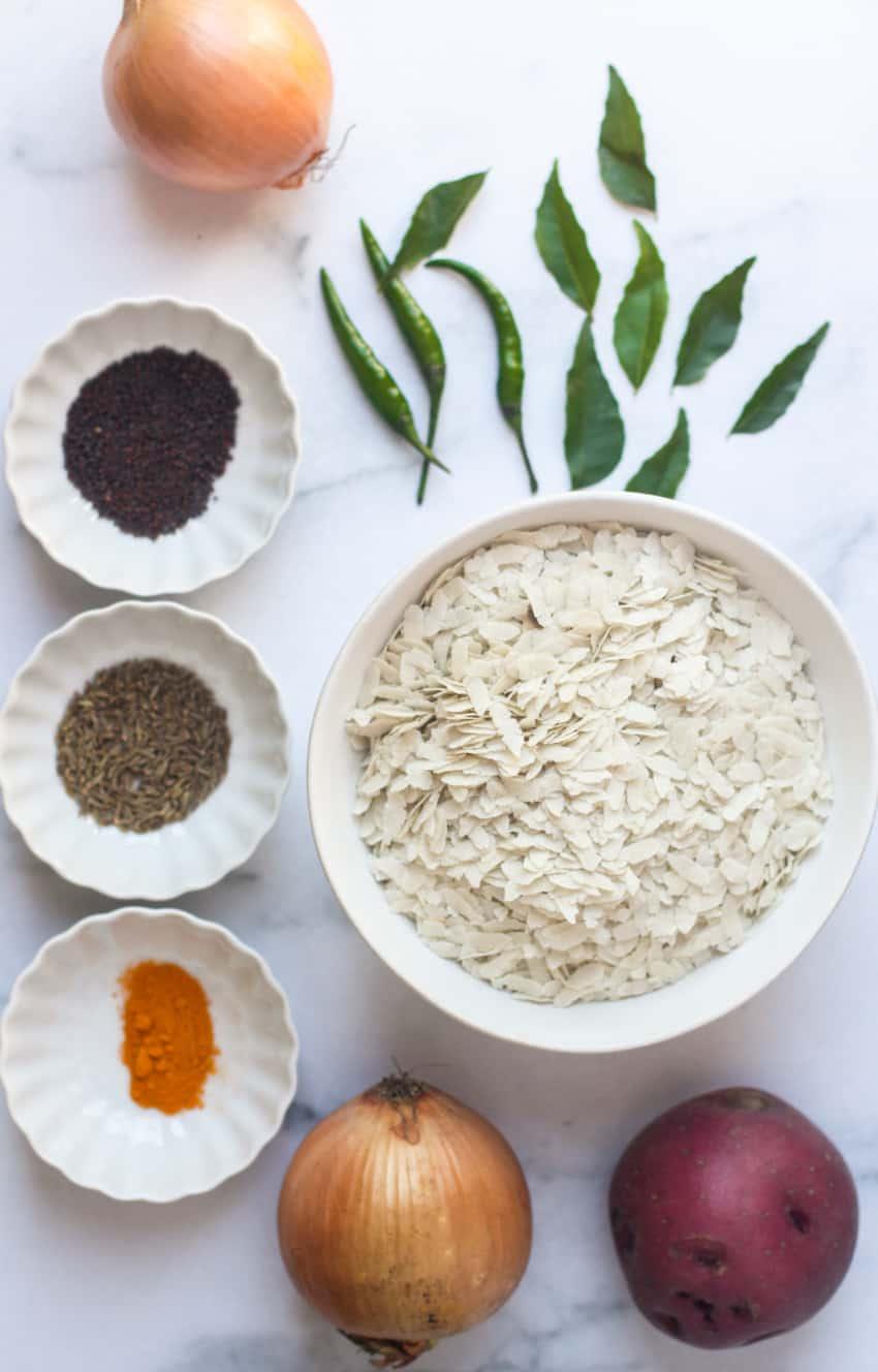 Poha Ingredients