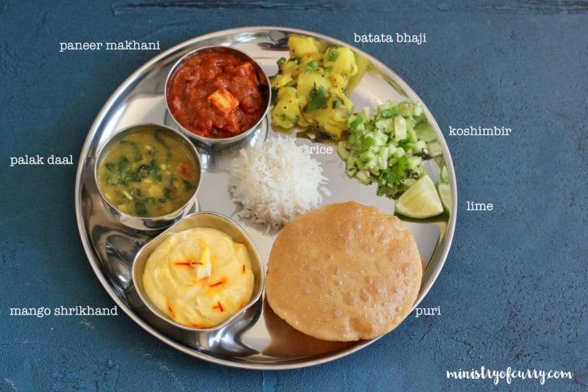 vegetarin Indian Thali
