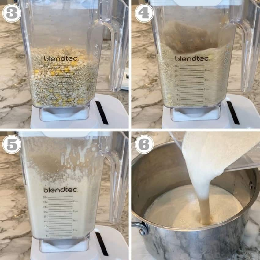 steps three through six showing how to make dosa batter