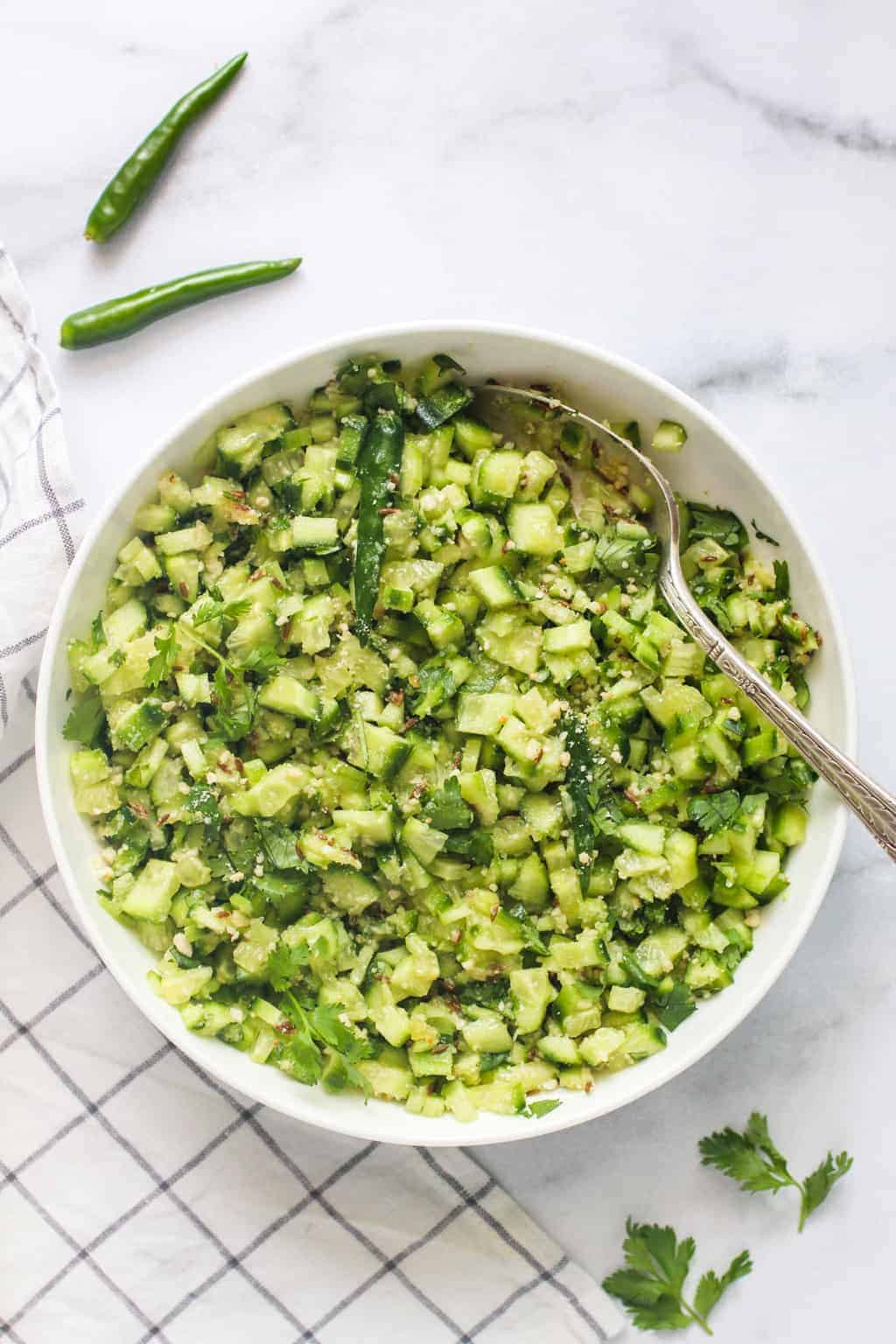 Indian Cucumber Salad Kakdi Koshimbir Ministry Of Curry