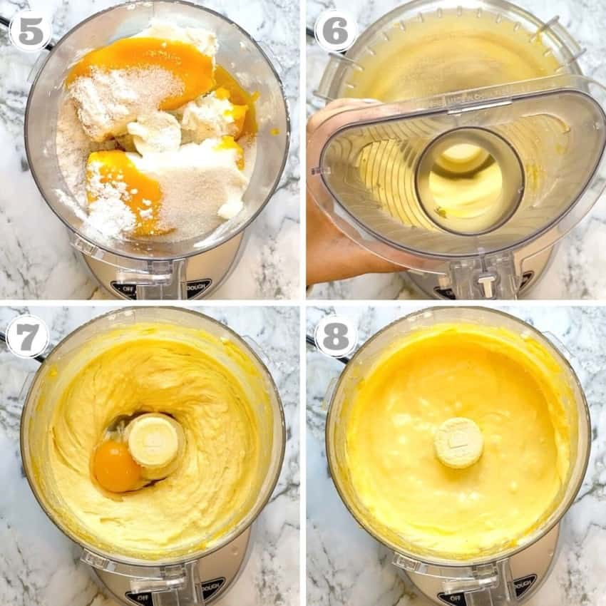 Mixing cheese cake batter