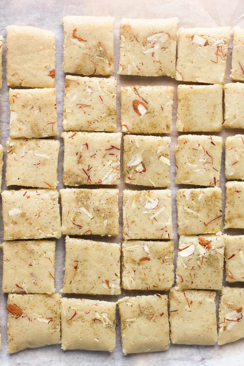 badam burfi squares