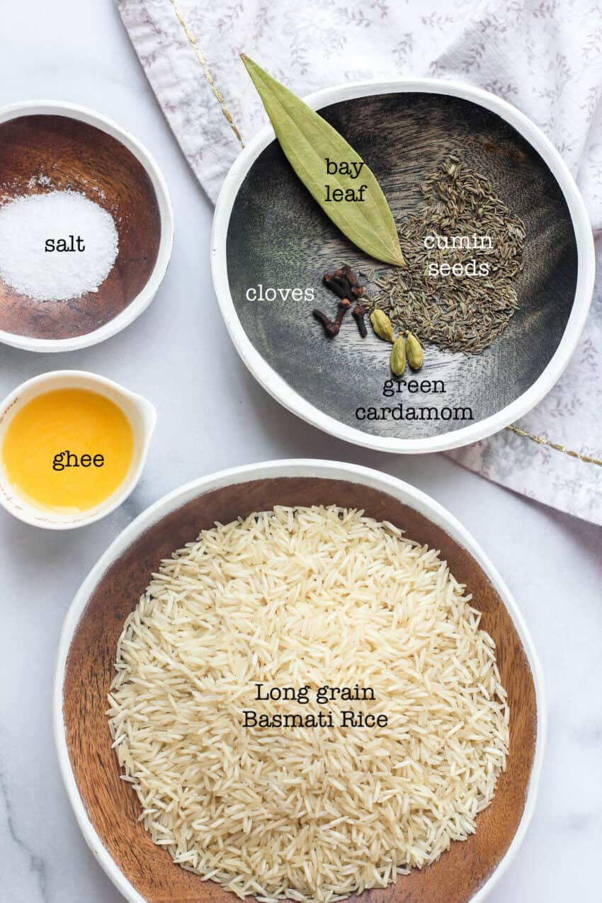 ingredients for jeera rice