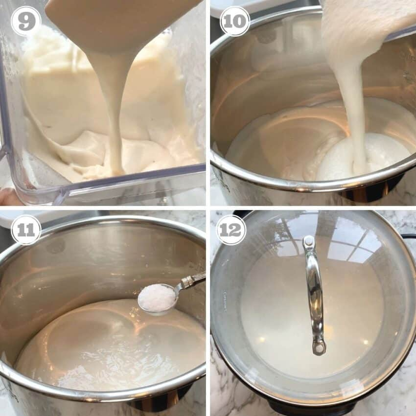 making batter ready for fermenting