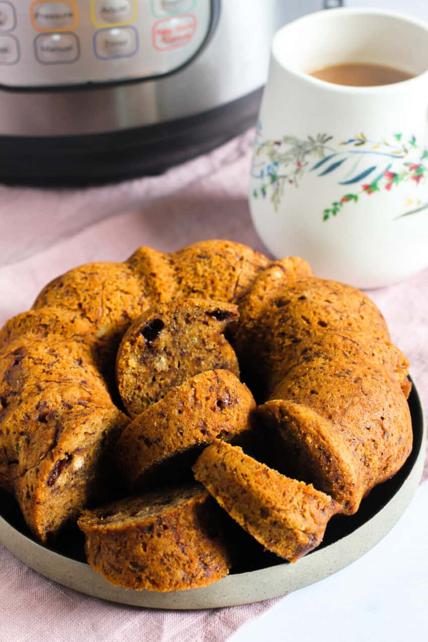 Banana bread with cup of tea