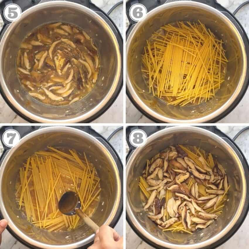 cooking spaghetti in Instant Pot