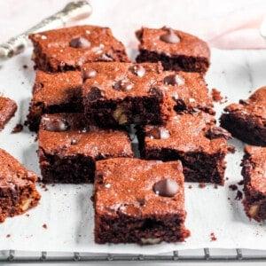 almond flour brownie squares