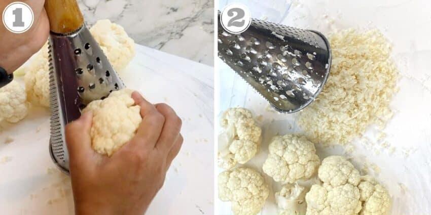 grating cauliflower
