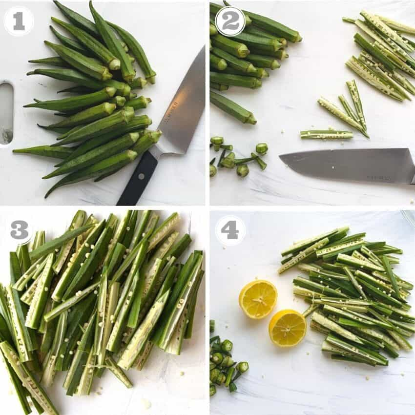 cut okra for air frying