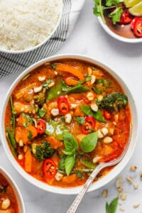 Thai Massaman curry with rice