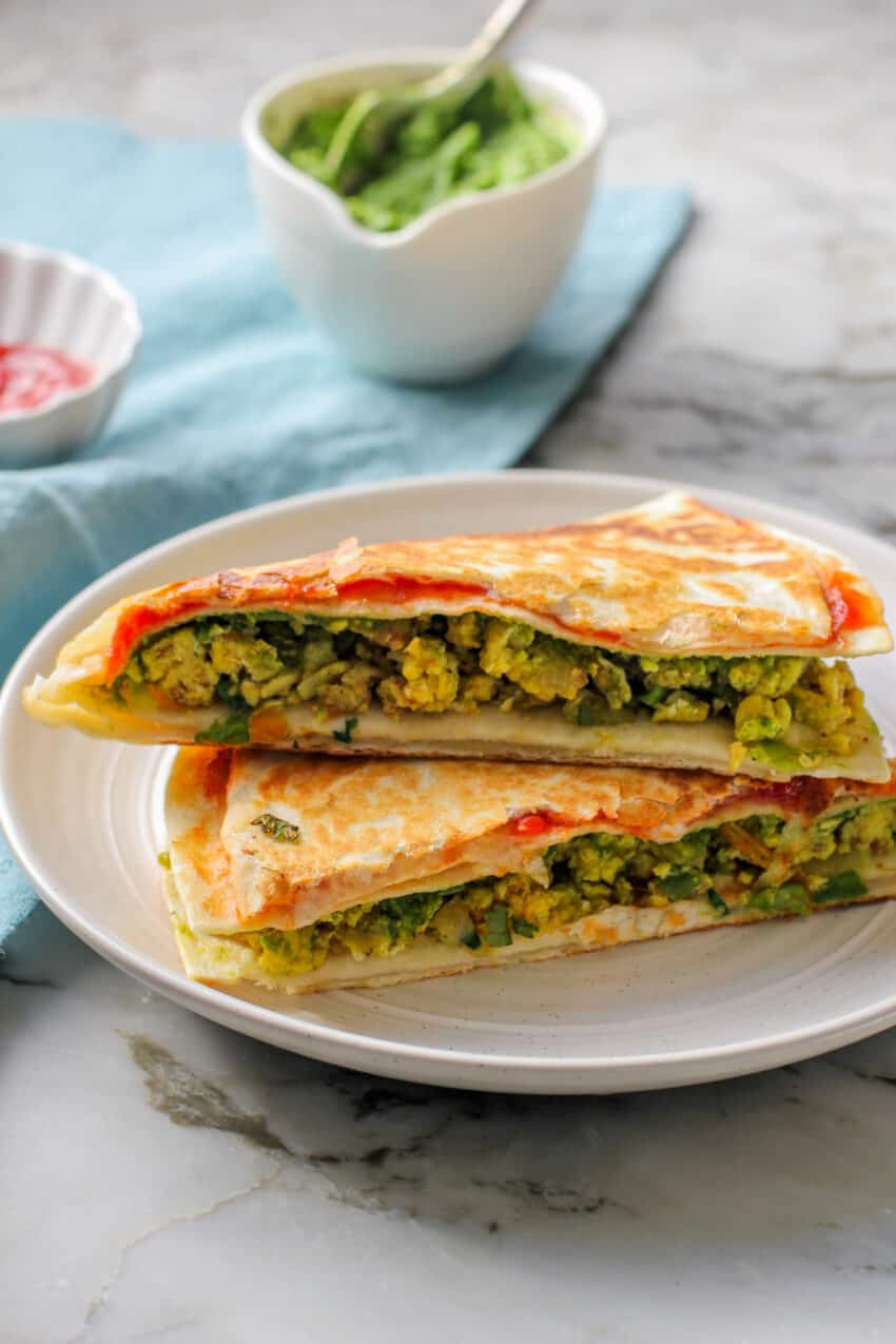 breakfast egg quesadillas